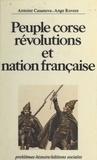 Rovere et Giacomo Casanova - Peuple corse, révolutions et nation française.