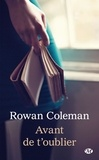 Rowan Coleman - Avant de t'oublier.