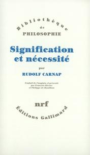 Rudolf Carnap - Signification et nécessité.