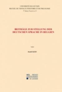 Rudolf Kern - Beiträge zur Stellung der deutschen Sprache in Belgien - Septième série-9.