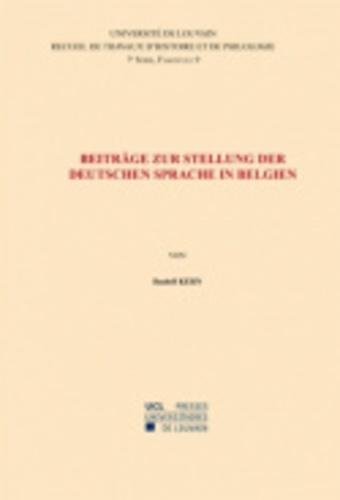 Beiträge zur Stellung der deutschen Sprache in Belgien. Septième série-9