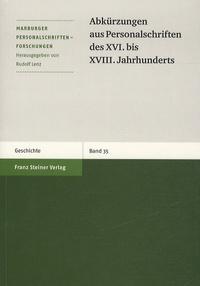 Rudolf Lenz - Abkürzungen aus Personalschriften des XVI bis XVIII Jahrhunderts.