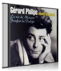 Gérard Philipe et Henri Jeanson - Gérard Philipe raconte aux enfants La vie de Mozart et Fanfan la Tulipe - CD audio.