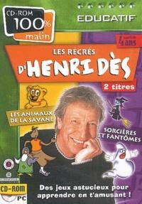 Les récrés dHenri Dès. 2 titres, Les animaux de la savane, sorcières et fantômes, CD-ROM.pdf