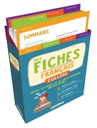 Coffret Mes fiches français collège -  Rue des écoles  