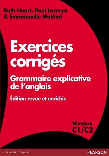 Exercices Corriges Grammaire Explicative De De Ruth Huart Livre Decitre