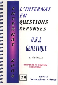 S Georgin - ORL génétique.