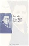S Glachant - La vie d'Annie Besant.