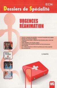 S. Knaffo - Urgences réanimation.