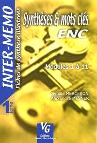S Merceron et Alexandra Mesner - Synthèses et mots clés - Tome 1 -Modules 1 à 11.