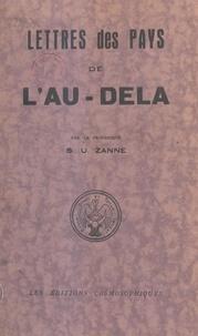 S.U. Zanne et Ève Suzanne Ancel - Lettres des pays de l'au-delà - Extraits.