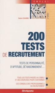 Sabine Duhamel - 200 tests de recrutement.