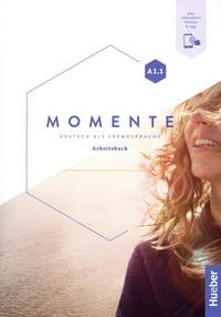 Sabine Glas-Peters et Angela Pude - Momente A1.1 - Deutsch als fremdsprache Arbeitsbuch. Plus interaktive version.