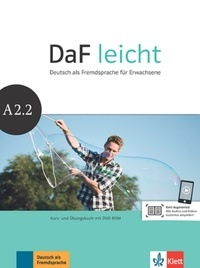 Sabine Jentges et Elke Körner - Daf leicht A2.2 - Kurs- und Ubungsbuch. 1 Cédérom