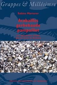 Sabine Marterer - Acabailles gerbebaude pampaillet - Les régionalismes viticoles dans les Graves de Bordeaux.