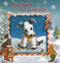 Sabine Minssieux - Un chiot dans la neige.
