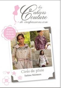 Sabine Moinaux - Cirés de pluie - Patron en taille réelle de 2 à 12 ans.