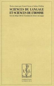 Sabine Pétillon - Sciences du langage et sciences de l'homme - Actes du colloque 2005 de l'Association des Sciences du Langage.