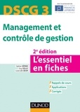 Sabine Sépari et Guy Solle - DSCG 3 Management et contrôle de gestion - L'essentiel en fiches.