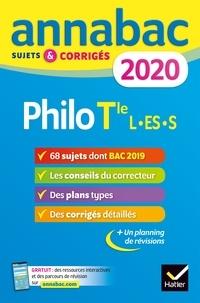 Ebook EPUB téléchargement gratuit Annales Annabac 2020 Philosophie Tle L, ES, S  - sujets et corrigés du bac   Terminale séries générales