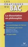 Sabrina Cerqueira - La dissertation en philosophie.