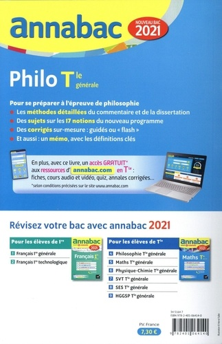 Philosophie Tle générale. Sujets et corrigés  Edition 2021