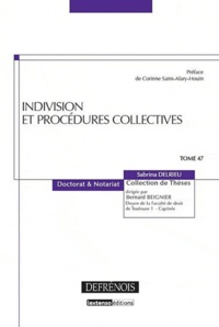 Sabrina Delrieu - Indivision et procédures collectives.