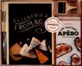 Sabrina Fauda-Rôle - La cave à fromages - Coffret avec 1 couteau à fromage, 4 étiquettes en bois, 1 crayon craie et livre de tartines pour l'apéro.