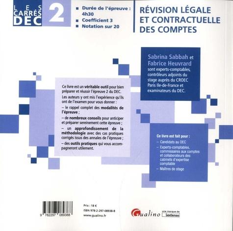 Révision légale et contractuelle des comptes DEC 2. 19 fiches de conseils et d'outils pratiques 4e édition