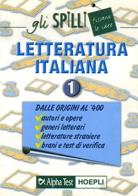 Galabria.be Letteratura italiana - Volume 1, Dalle origini al '400 Image