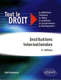 Saïd Hamdouni - Institutions internationales.
