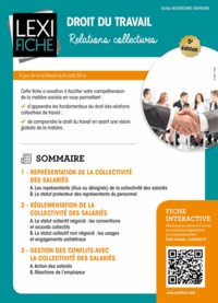 Saïda Nouredine-Safatian - Droit du travail - Relations collectives.