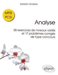 Analyse - 58 exercices de niveaux variés et 17 problèmes corrigés de type concours MPSI / PCSI.pdf