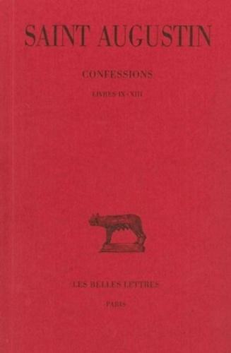 Confessions Livres Ix Xiii