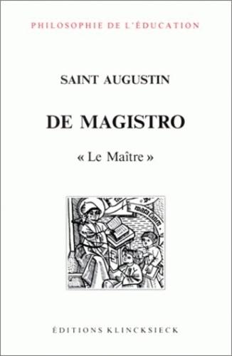 Saint Augustin - De magistro.
