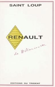 Saint-Loup - Renault de Billancourt.