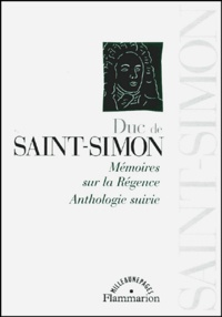 Histoiresdenlire.be Mémoires sur la Régence. Anthologie suivie Image