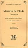 Saint-Yves d'Alveydre - Mission de l'Inde en Europe - Mission de l'Europe en Asie.