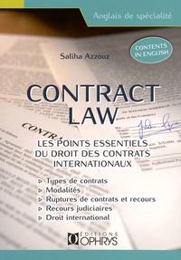 Saliha Azzouz - Contract law - Les points essentiels du droit des contrats internationaux.