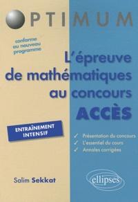 Deedr.fr L'épreuve de mathématiques au concours ACCES Image