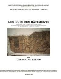 Saliou Catherine - Les lois des bâtiments, voisinage et habitat urbain dans l'Empire romain.
