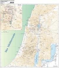 Maria Valtorta - Carte de la Palestine et de Jérusalem au temps de Jésus selon l'évangile tel qu'il m'a été révélé.
