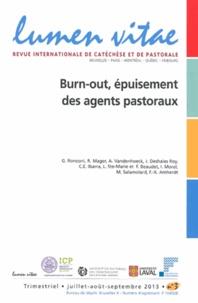 Henri Derroitte - Lumen Vitae N° 3/2013, juillet-a : Burn-out, épuisement des agents pastoraux.