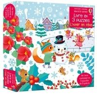 Sam Taplin et Federica Iossa - L'hiver en fête - Avec 1 livre cartonné et 3 puzzles de 9 pièces.