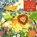 Sam Taplin et Federica Iossa - Le zoo - Avec 1 livre cartonné et 3 puzzles de 9 pièces.