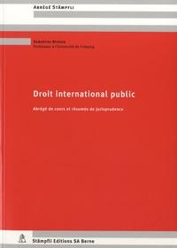 Samantha Besson - Droit international public - Abrégés de cours et résumés de jurisprudence.