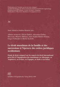 Histoiresdenlire.be Le droit musulman de la famille et des successions à l'épreuve des ordres juridiques occidentaux Image