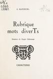 Sami Hatchuel et Roger Eskenazi - Rubriques mots diverTs.