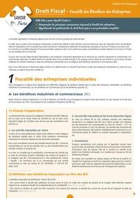 Openwetlab.it Droit fiscal - Fiscalité des bénéfices des entreprises Image