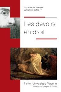 Samuel Benisty - Les devoirs en droit.